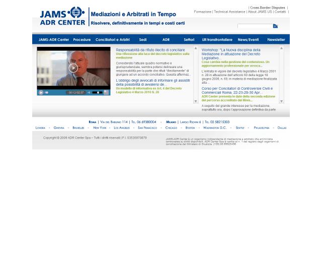 JAMS-ADR Center SpA | Web Design e gestione