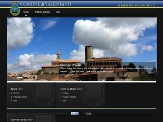 Comune di Valentano | Template Design